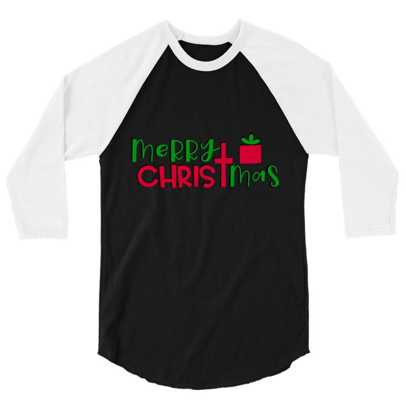Merry Christmas 3/4 Sleeve Shirt | Artistshot