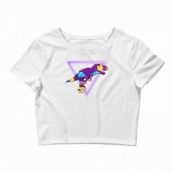 shaped dinosaur Crop Top | Artistshot