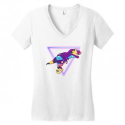 shaped dinosaur Women's V-Neck T-Shirt | Artistshot