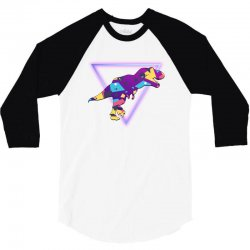 shaped dinosaur 3/4 Sleeve Shirt | Artistshot
