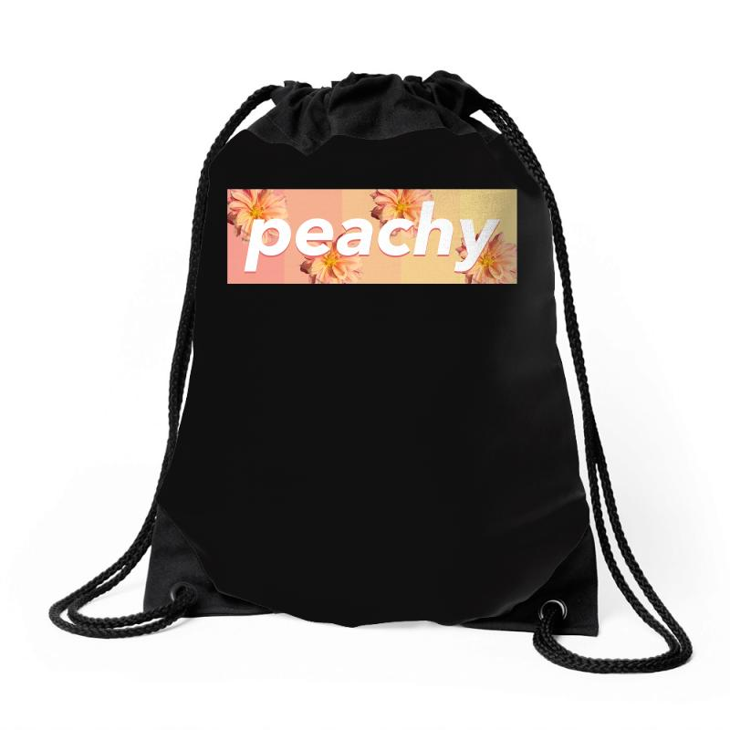 Peachy Colors Drawstring Bags | Artistshot