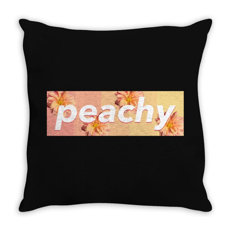 Peachy Colors Throw Pillow | Artistshot