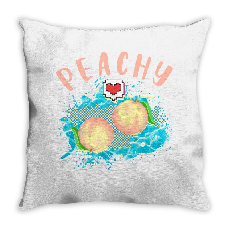 Peachy Throw Pillow | Artistshot