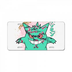 gengar cherry bloom License Plate | Artistshot