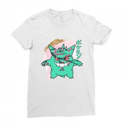 gengar cherry bloom Ladies Fitted T-Shirt | Artistshot