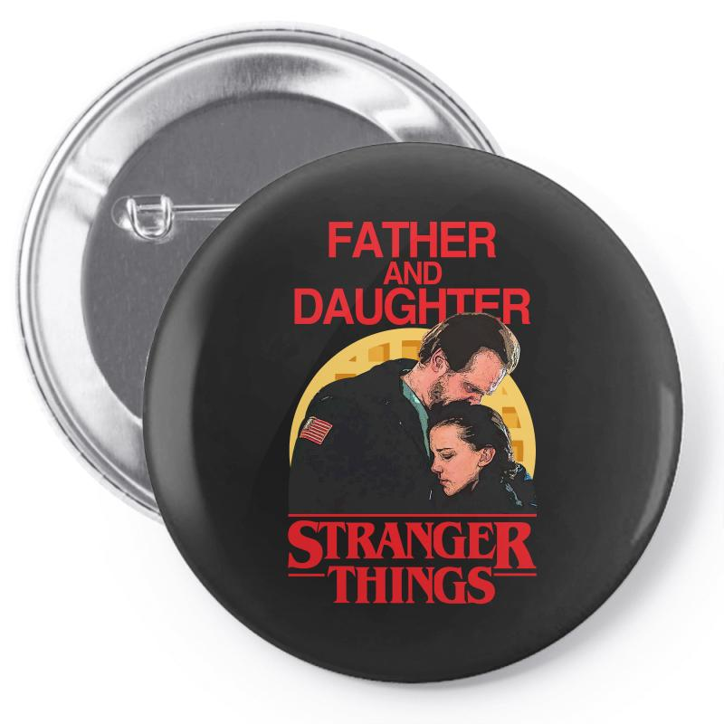 Father And Daughter Stranger Things Pin-back Button | Artistshot