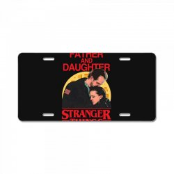 father and daughter stranger things License Plate | Artistshot