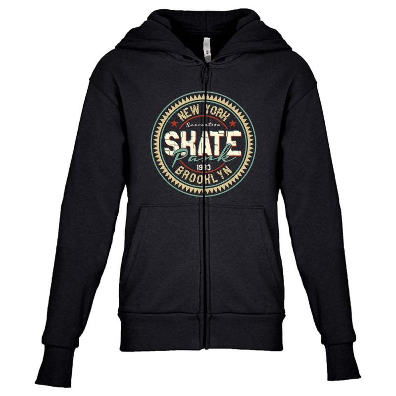 New York Skate Park Youth Zipper Hoodie | Artistshot