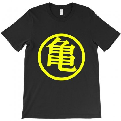 Goku Kame Symbol In Yellow T-shirt Designed By Allison Serenity