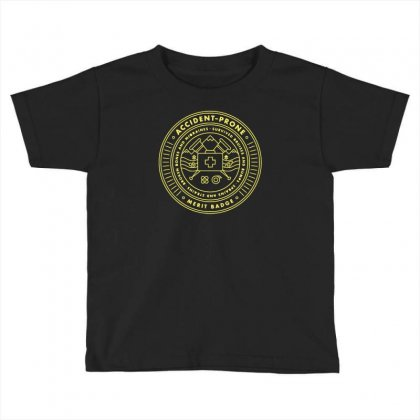 Accident Prone Merit Badge Toddler T-shirt Designed By Rozakgraphic
