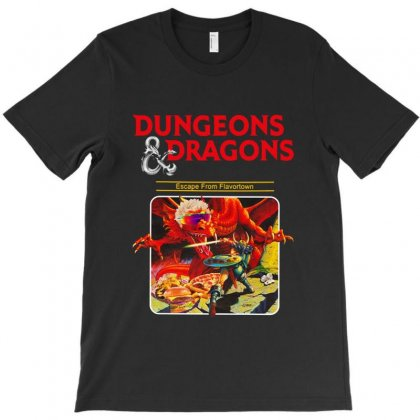 Dungeons & Diners & Dragons & Drive Ins & Dives Escape From Flavortow T-shirt Designed By Allison Serenity