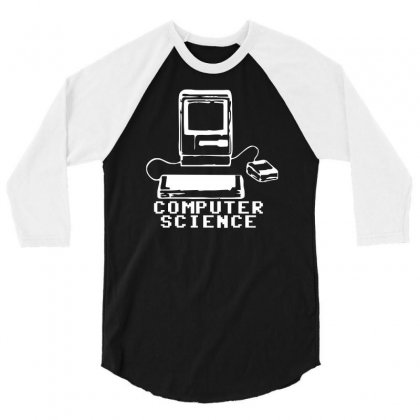 Computer Science Pc Nerd Gamer Zocker Shooter Funny 3/4 Sleeve Shirt Designed By Teeshop