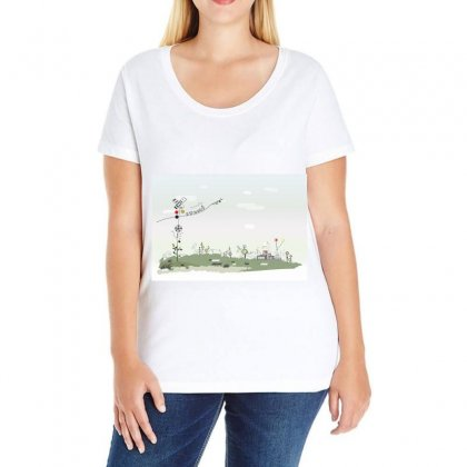 Abstract Background Children Ladies Curvy T-shirt Designed By Salmanaz