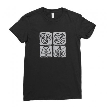Avatar Sigils Ladies Fitted T-shirt Designed By Funtee