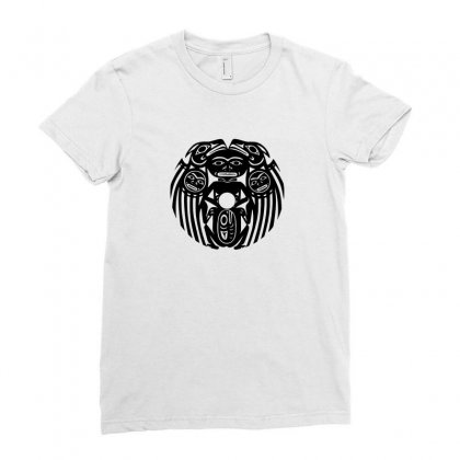 Aztec Mayan Tribal Ladies Fitted T-shirt Designed By Funtee