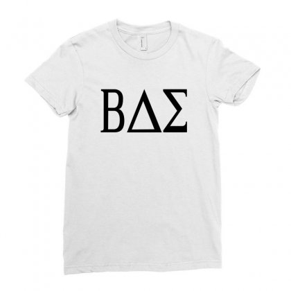 Bae College Greek Letters Ladies Fitted T-shirt Designed By Funtee