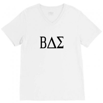 Bae College Greek Letters V-neck Tee Designed By Funtee