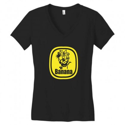 Banana Herren Women's V-neck T-shirt Designed By Funtee