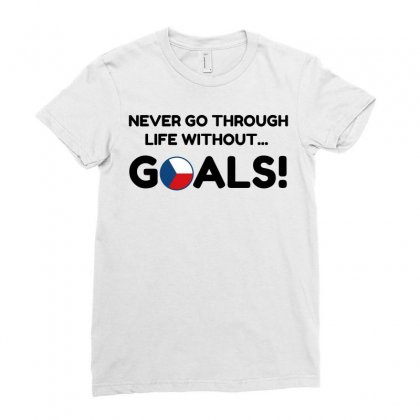 Czech Goals Ladies Fitted T-shirt Designed By Perfect Designers