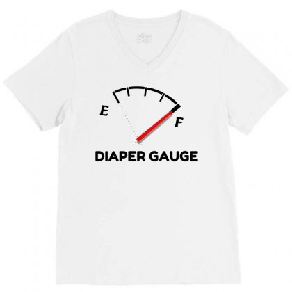 Diaper Gauge V-neck Tee Designed By Perfect Designers