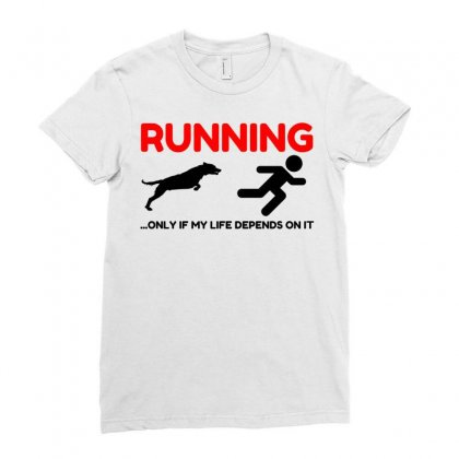 Hate Running Ladies Fitted T-shirt Designed By Perfect Designers