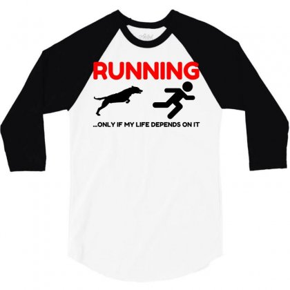 Hate Running 3/4 Sleeve Shirt Designed By Perfect Designers