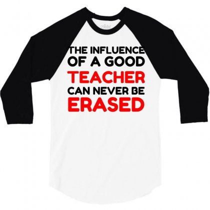 Influence Of A Teacher 3/4 Sleeve Shirt Designed By Perfect Designers