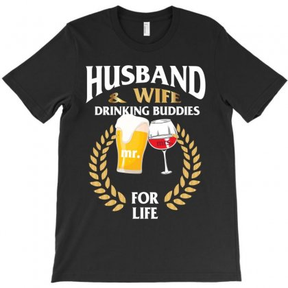 Husband And Wife Drinking Buddies T-shirt Designed By Rardesign