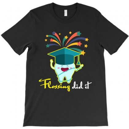 Flossing Did It T-shirt Designed By Rardesign