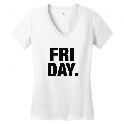 Friday Cool Women's V-neck T-shirt Designed By Enjang