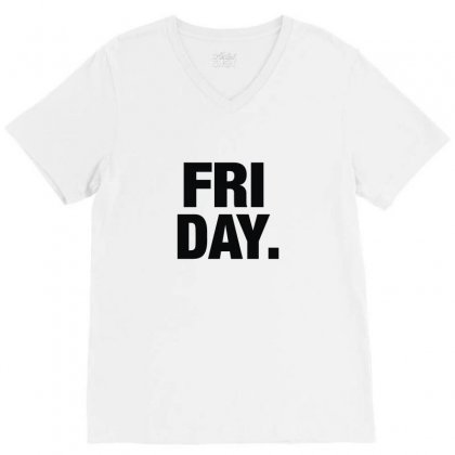 Friday Cool V-neck Tee Designed By Enjang