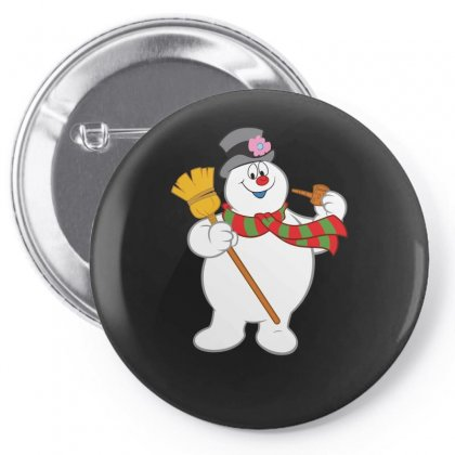 Frosty The Snowman New Sku Pin-back Button Designed By Enjang