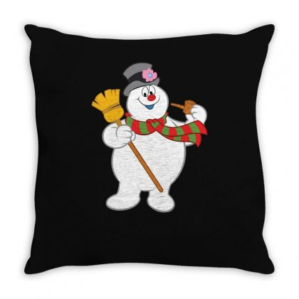 Frosty The Snowman New Sku Throw Pillow Designed By Enjang