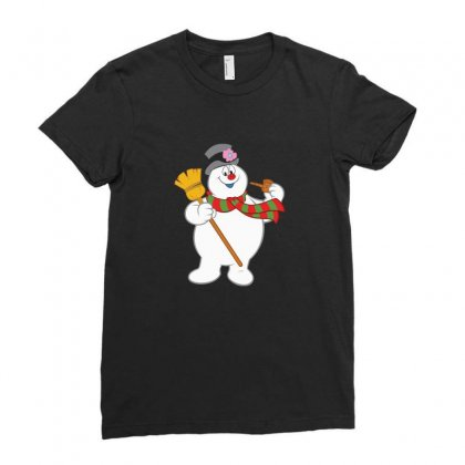 Frosty The Snowman New Sku Ladies Fitted T-shirt Designed By Enjang