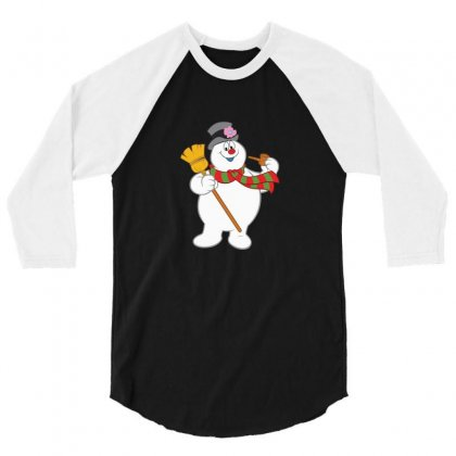 Frosty The Snowman New Sku 3/4 Sleeve Shirt Designed By Enjang