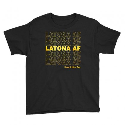 Latona Af Have A Nice Day Gold Youth Tee Designed By Toweroflandrose