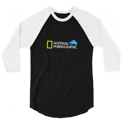 Funny National Geographic Pornographic Rhino Porn Dirty 3/4 Sleeve Shirt Designed By Enjang