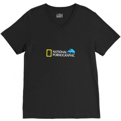 Funny National Geographic Pornographic Rhino Porn Dirty V-neck Tee Designed By Enjang