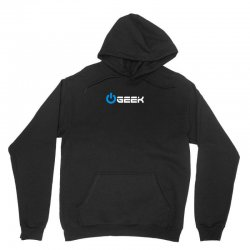 geek (power on button) Unisex Hoodie | Artistshot