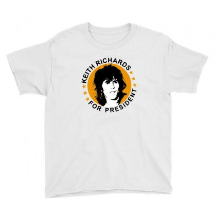 Keith Richards    For President Youth Tee Designed By Ande Ande Lumut