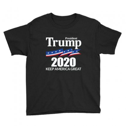 Keep America Great   President Trump 2020 Youth Tee Designed By Fejena