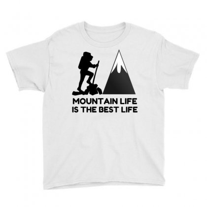 Mountain Life Best Life Youth Tee Designed By Perfect Designers