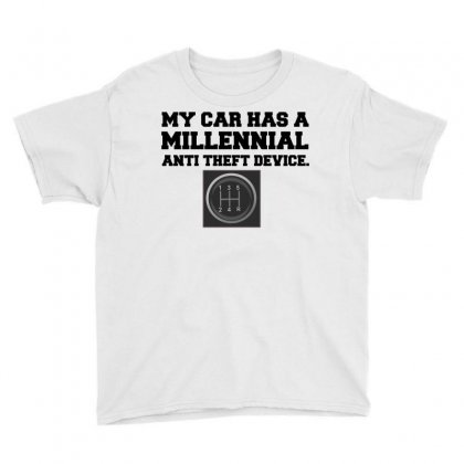 Millennial Anti Theft Car Shift Youth Tee Designed By Perfect Designers