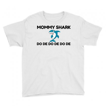 Mommy Shark Funny Youth Tee Designed By Perfect Designers