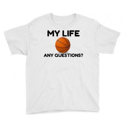 My Life Basketball Youth Tee Designed By Perfect Designers