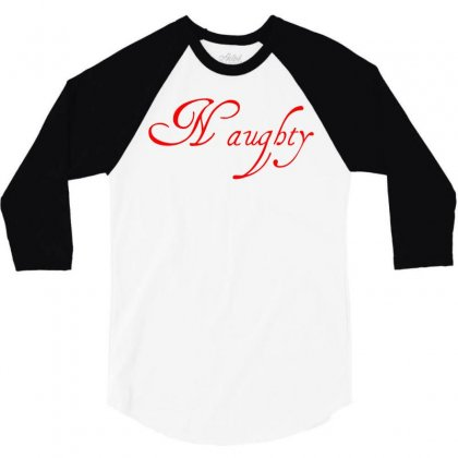 Naughty Christmas Couple 3/4 Sleeve Shirt Designed By Perfect Designers