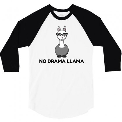 No Drama Llama Sunglasses 3/4 Sleeve Shirt Designed By Perfect Designers