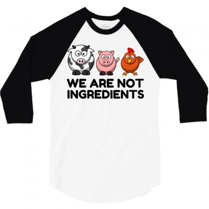 Not Ingredients 3/4 Sleeve Shirt Designed By Perfect Designers
