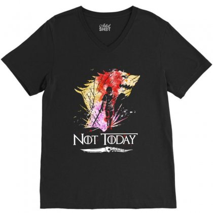 Cool Not Today Game Of Thrones V-neck Tee Designed By Balqis Tees
