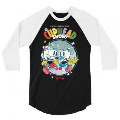 The Cuphead Show 3/4 Sleeve Shirt Designed By Vanitty
